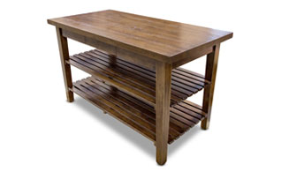 Boos 1887 Rustic-Edge Kitchen Table