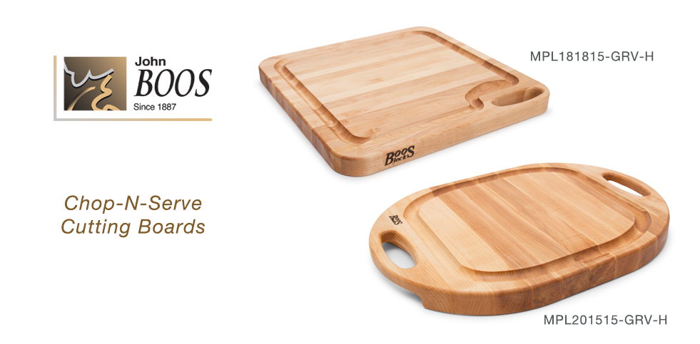 NEW Boos Block Chop-N-Serve Cutting Board With Juice Groove And Handle