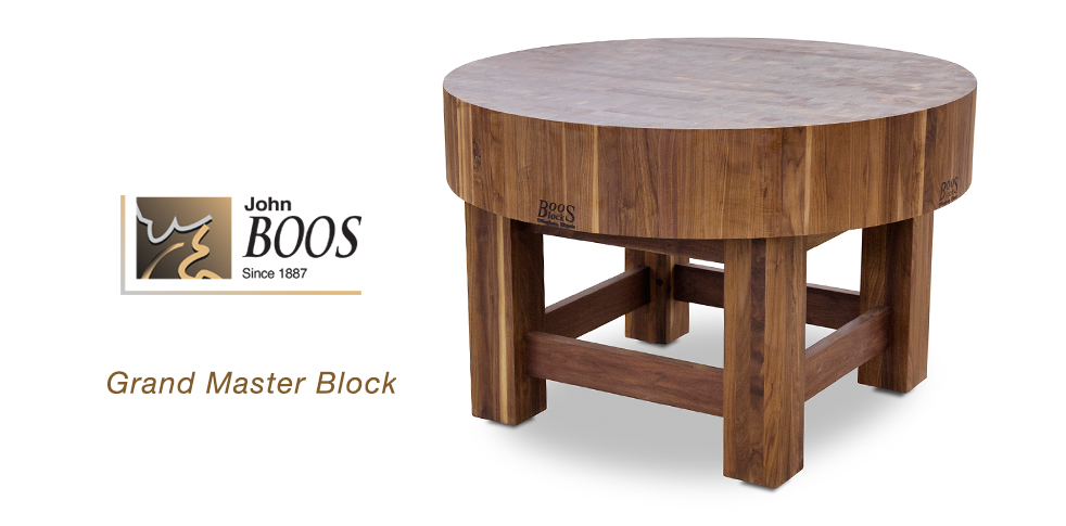 New Boos Grand Master Block Walnut Butcher