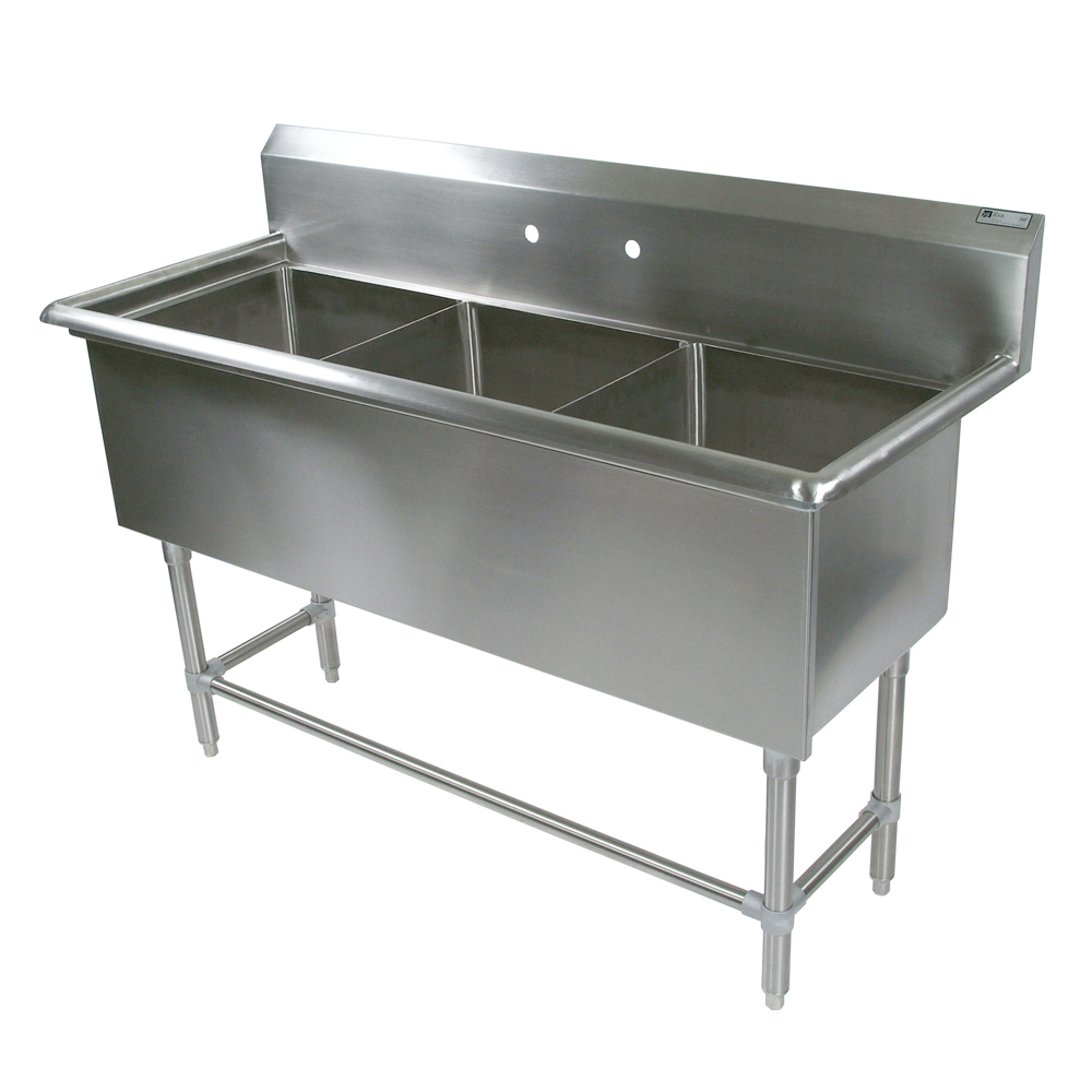 Compartment Sink Bowl Without Drainboards John Boos - Restaurant supply prep table