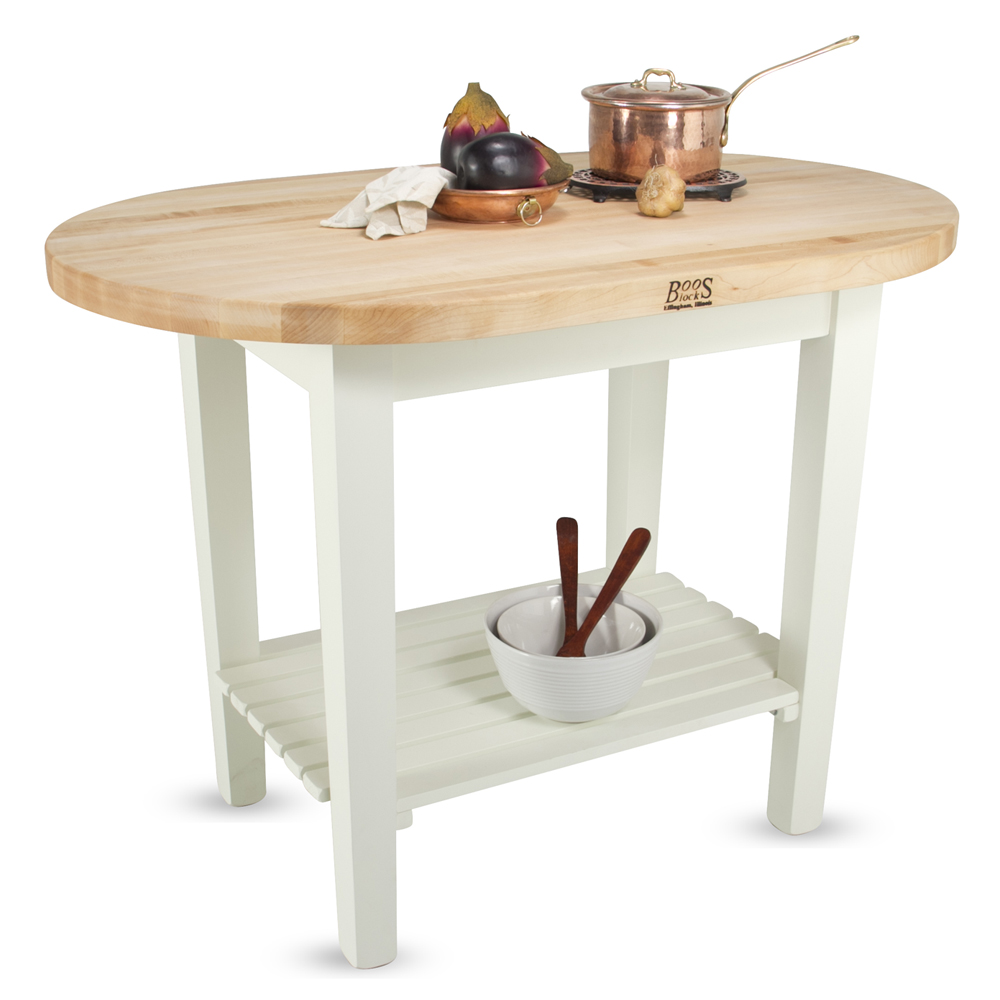 kitchen island john boos rustica table in lyptus cherry with lower