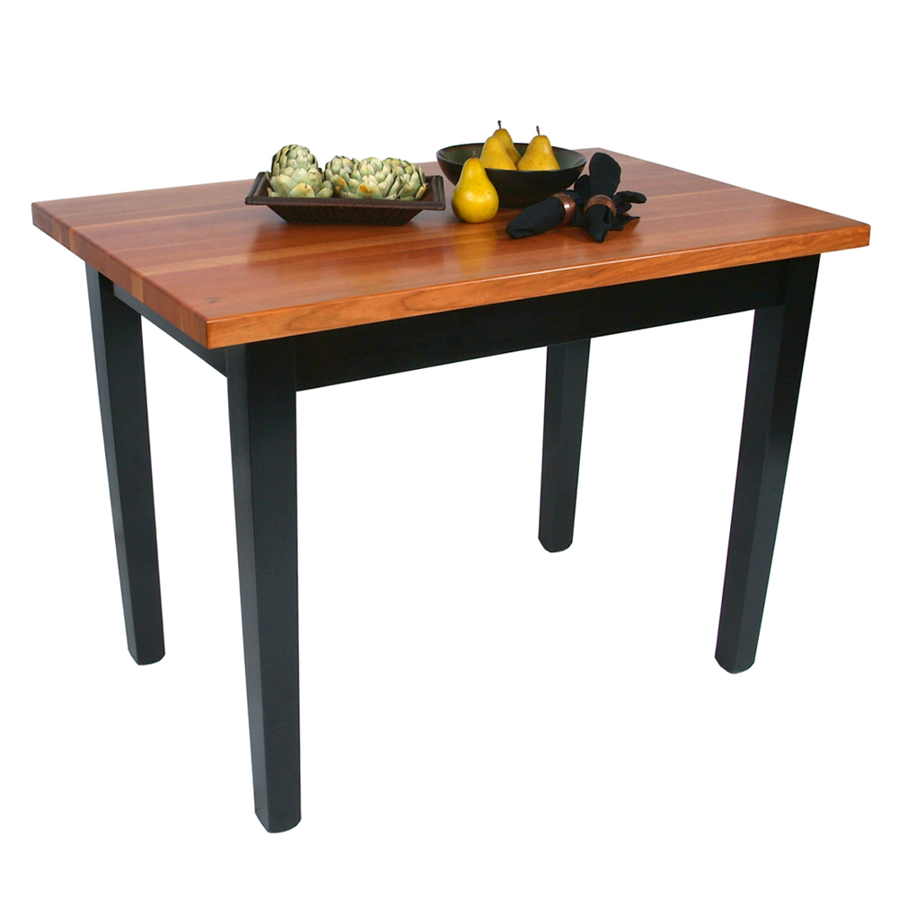 Kitchen Islands & Tables: Cherry Top Kitchen Table With Painted Base ...