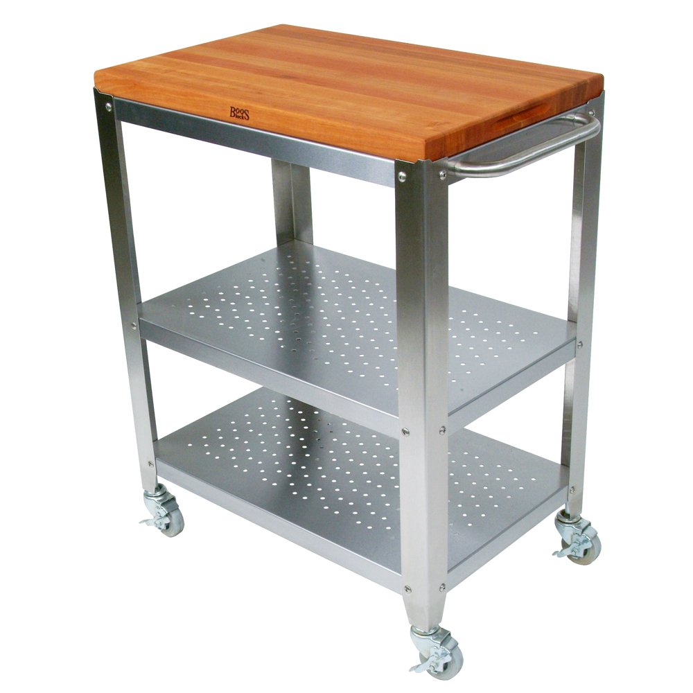 Kitchen Carts: Cucina Culinarte - Cherry Removable Top ...