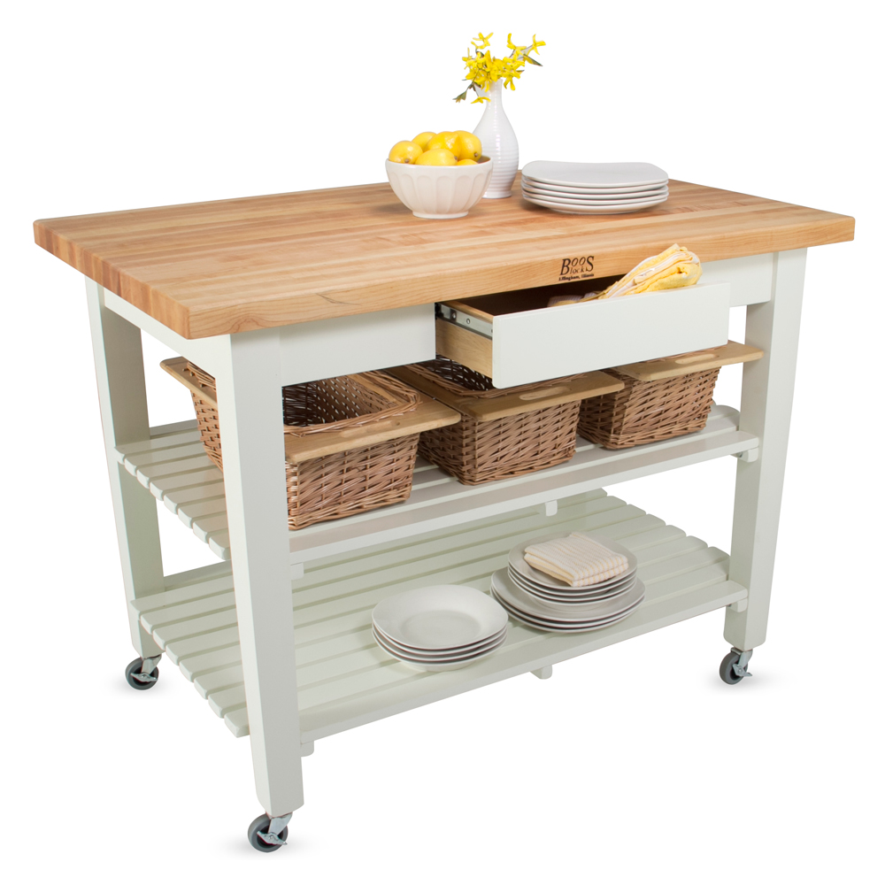 Kitchen Island John Boos kitchen islands & tables: maple classic country work table