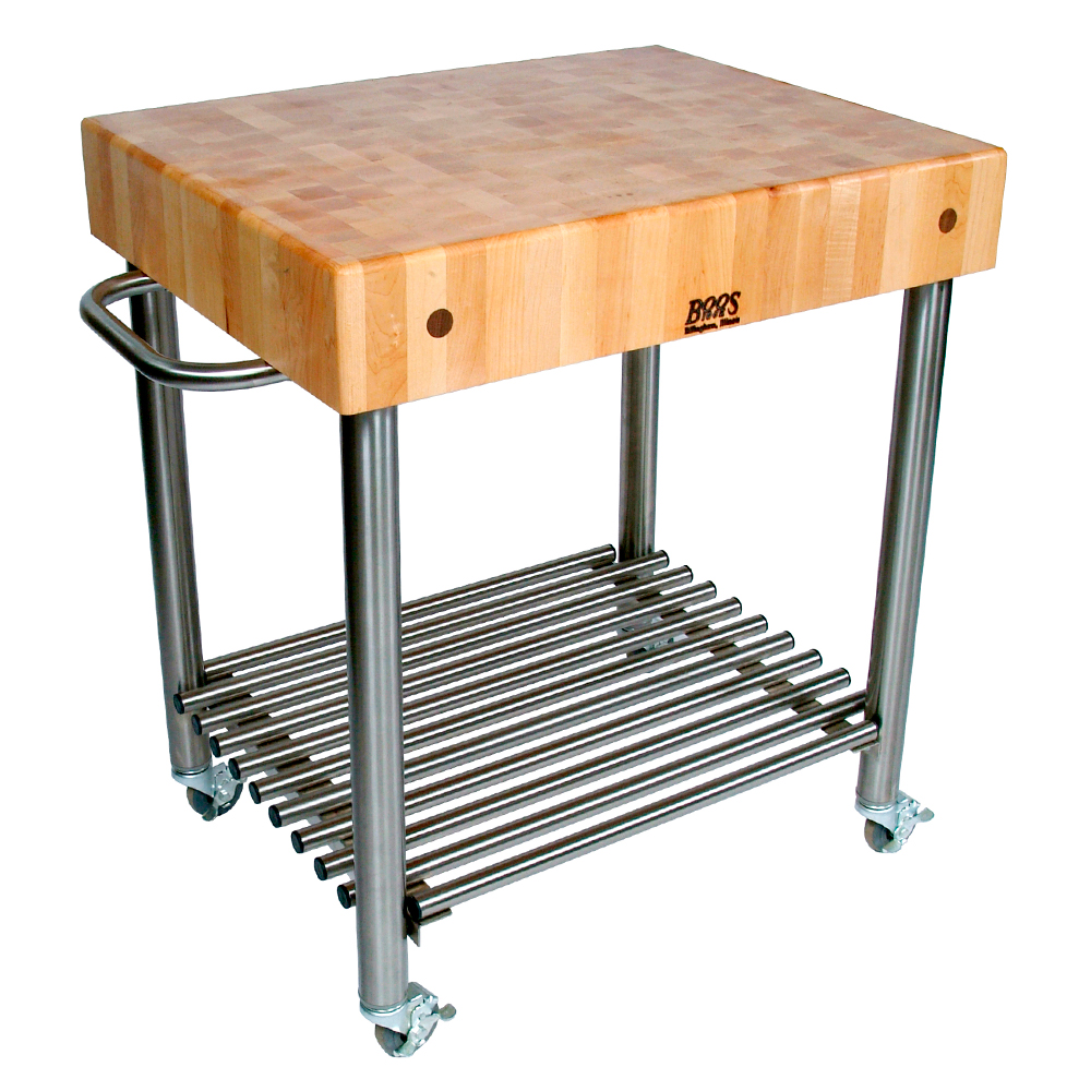 Kitchen Carts Cucina D Amico Maple Top W Towel Bar