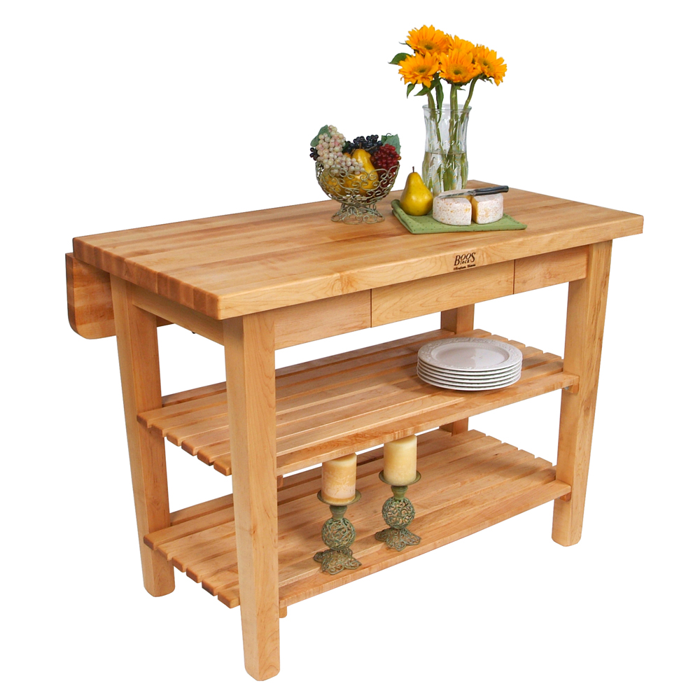 Kitchen Islands & Tables: Maple Top Kitchen Island With 8 ...