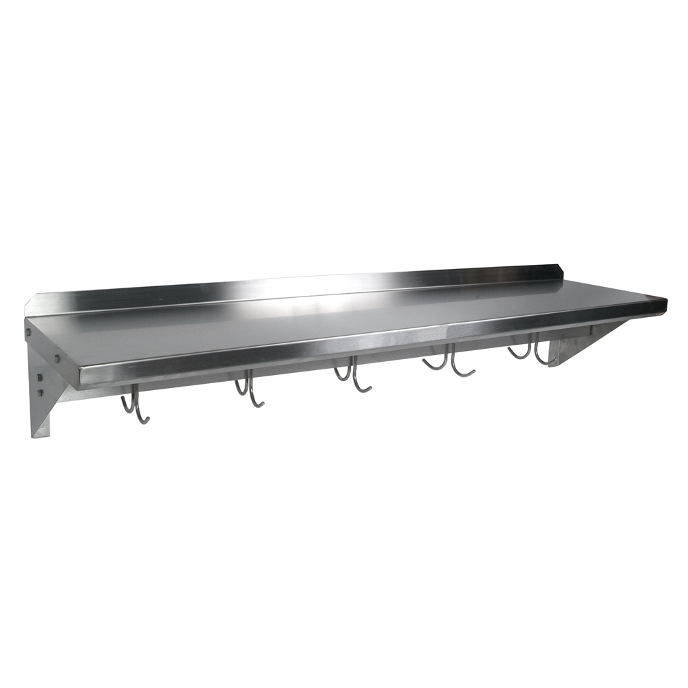 Kitchen Islands & Tables: Stainless Steel Kitchen Wall Shelves With ...