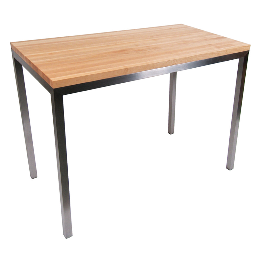 Kitchen Islands & Tables: Maple Top Kitchen Table With ...
