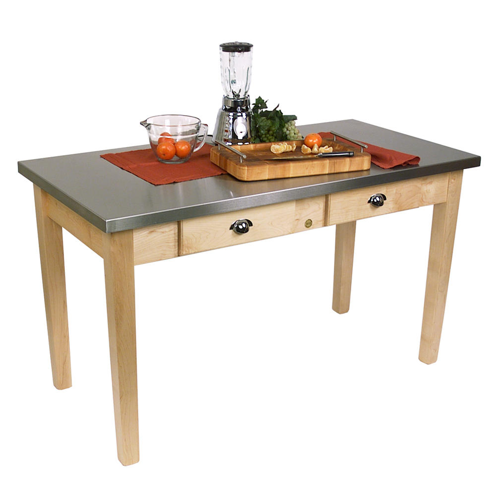 Kitchen Islands Tables Stainless Steel Top Kitchen Island With - Food grade stainless steel table