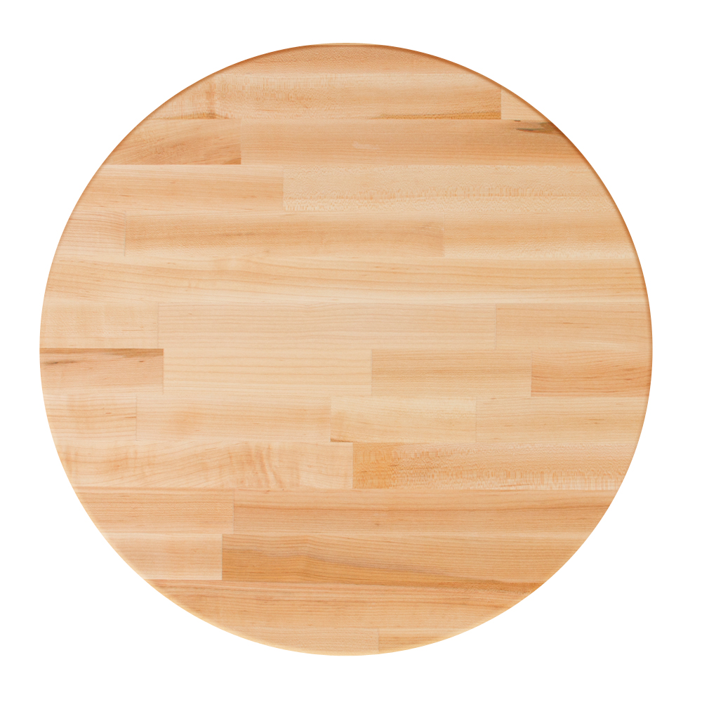 Boos Blocks Blended Hard Maple Butcher Block Dining Tops   Round