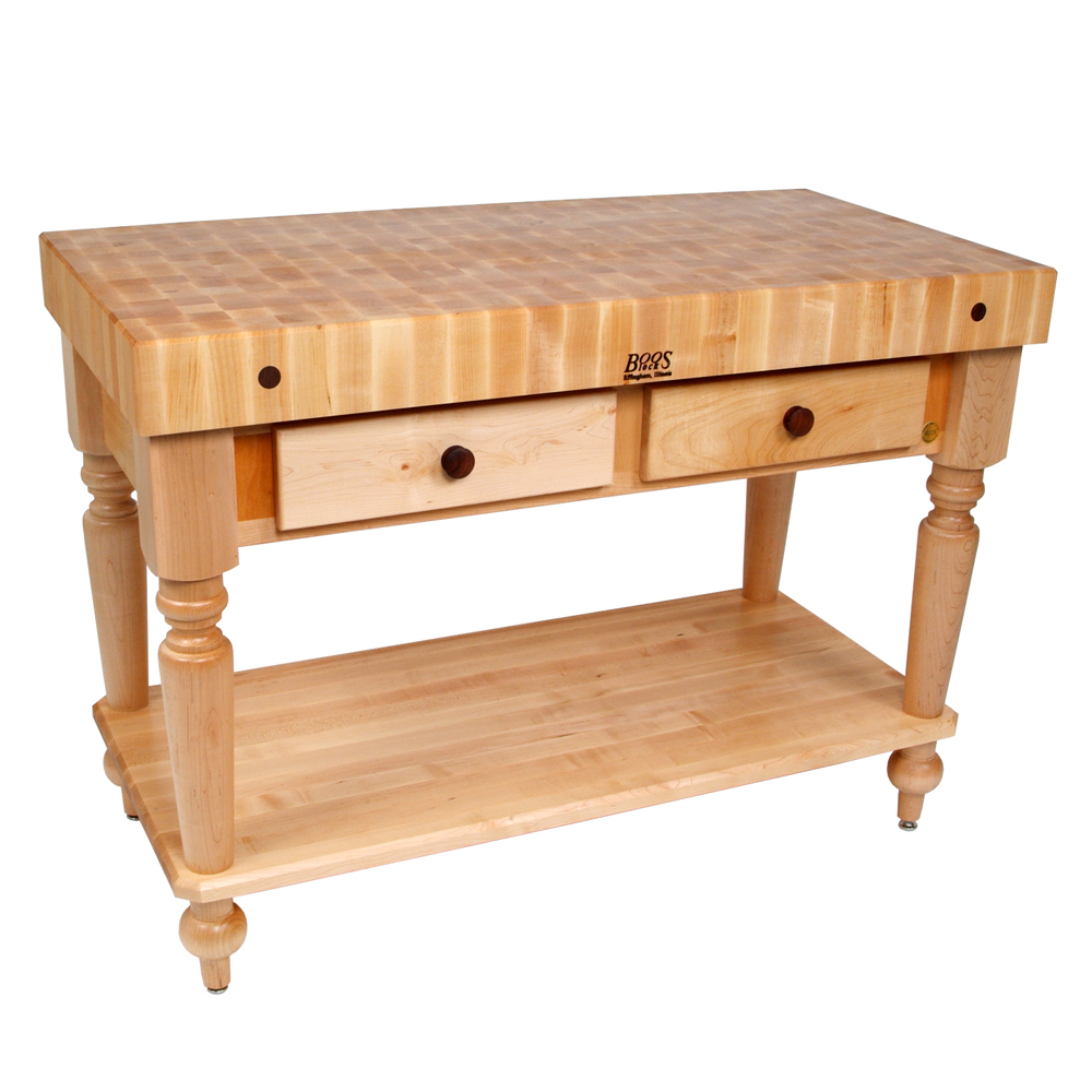 Kitchen Islands & Tables: Maple Top Kitchen Island With ...
