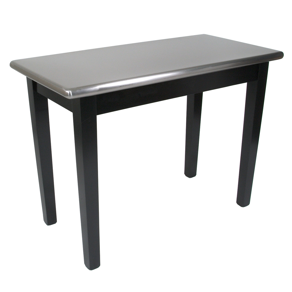 Delightful Boos Blocks SS C Cucina Moderno Kitchen Work Table, Stainless Steel Top,  Painted