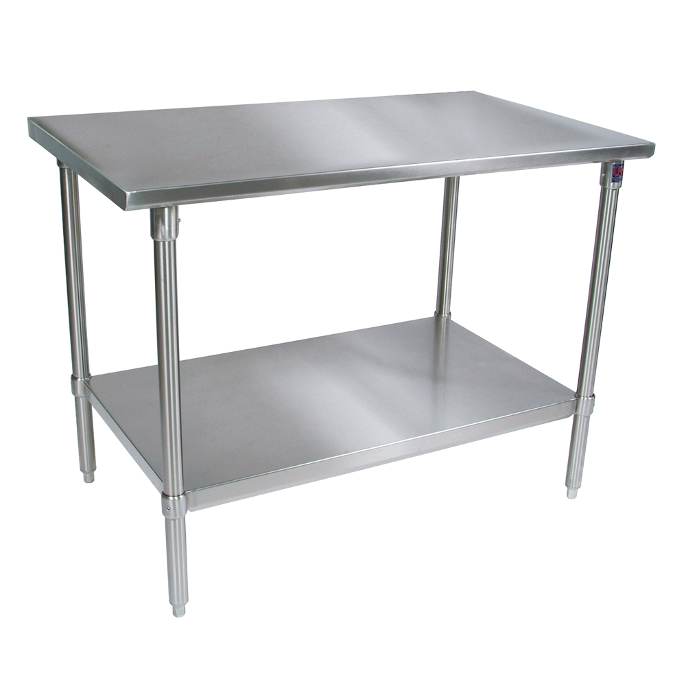 stainless steel work table 14ga stainless shelf john boos