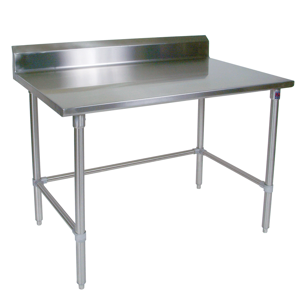 Stainless Steel Work Table GA Riser Stainless Bracing John Boos - Metal butcher table