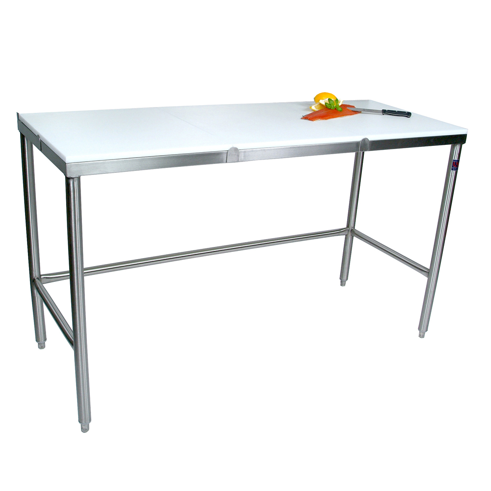 Lovely TC 3 John Boos Stainless Steel Work Table With Poly Top