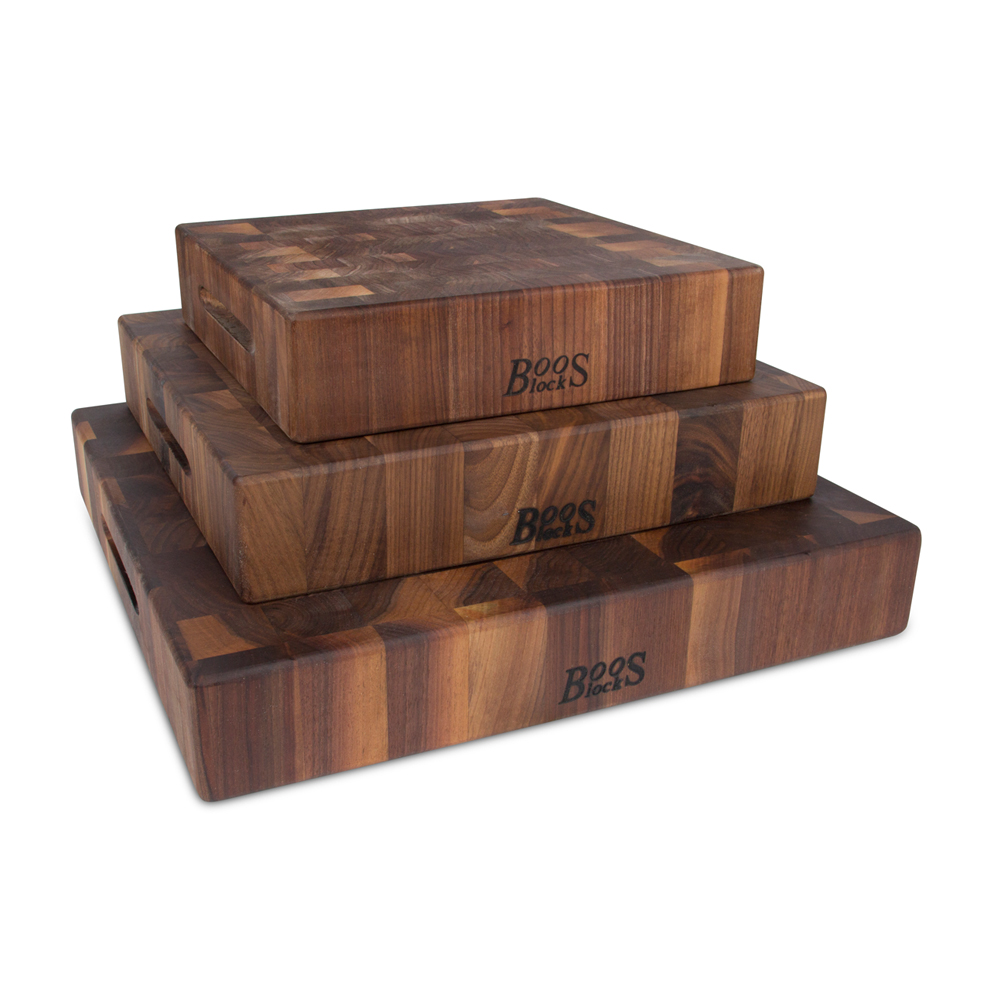 "Cutting Boards: Walnut Chopping Block, 3"" Thick"