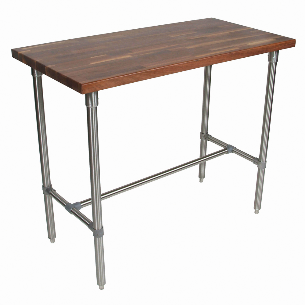 Kitchen Islands & Tables: Walnut Top Kitchen Work Table With ...