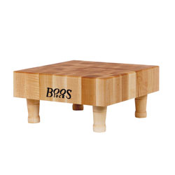 Boos Blocks Square Maple End Grain Chopping Block With Wood Feet