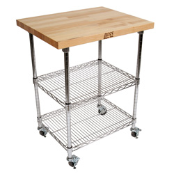 met mwc metropolitan wire cart maple - Kitchen Carts