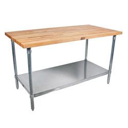 SNS John Boos Maple Wood Top Work Table