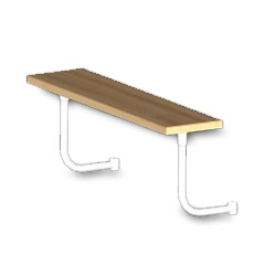 L Maple Steam Table Boards w/Adjustable Stainless Steel Supports - 1-3/4