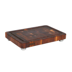 Boos Blocks Walnut Signature Board, End Grain With Groove & Stainless Steel Bun Feet