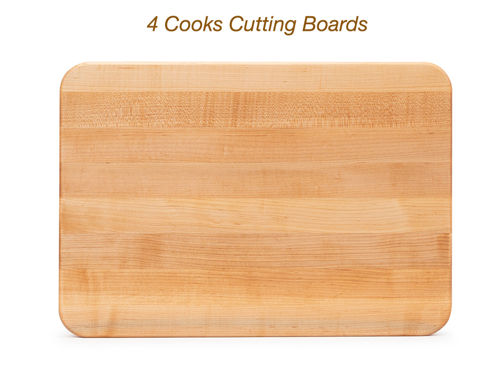 4 cooks cutting boards