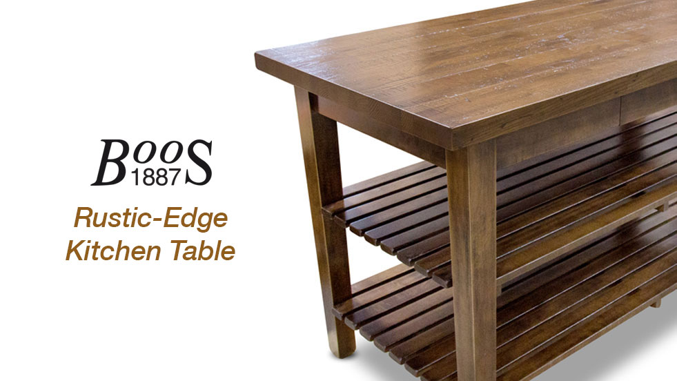 New Boos 1887 Collection - Rustic-Edge Table