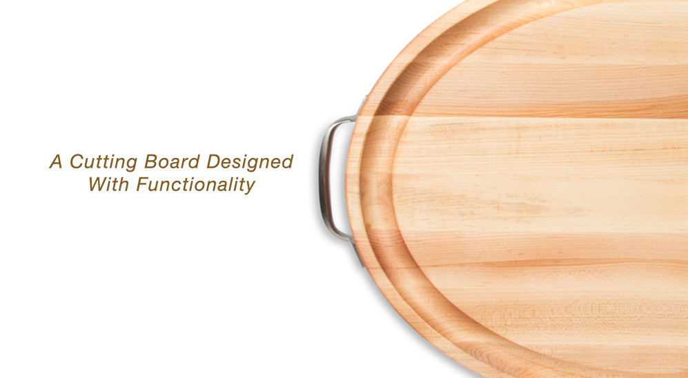 New Products Edge Oval Cutting Boards W Handles John