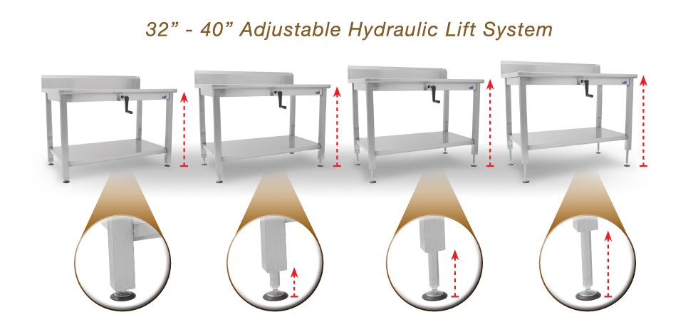 New Products Ada Ergonomic Stainless Steel Tables