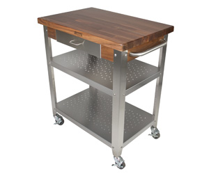 Boos Block - WALNUT CALAIS ISLAND TABLE